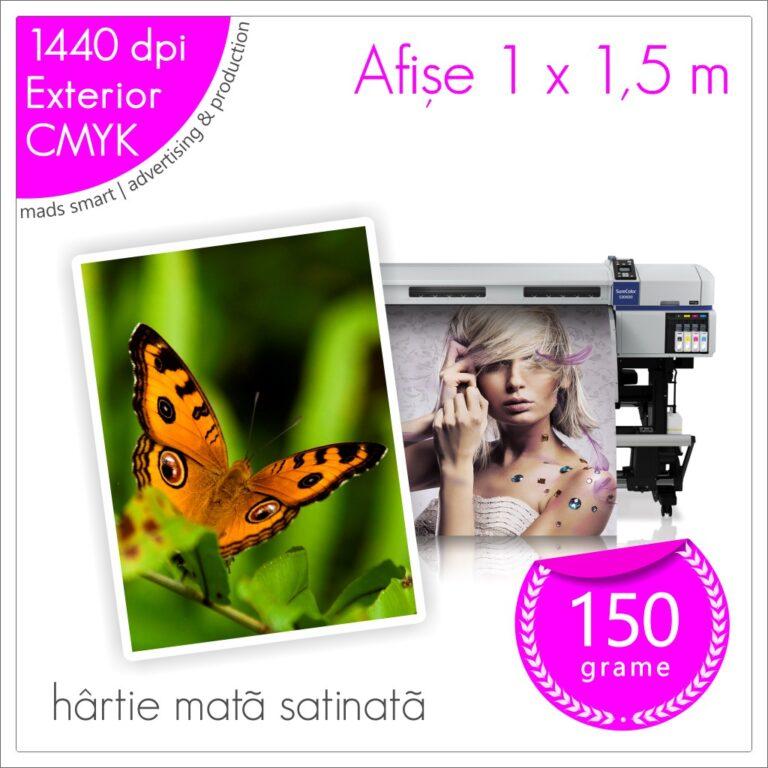 Afișe 100 x 150 cm de Exterior | Print pe Hârtie Mată Satinată 150g | Cod X04 | Mads Smart