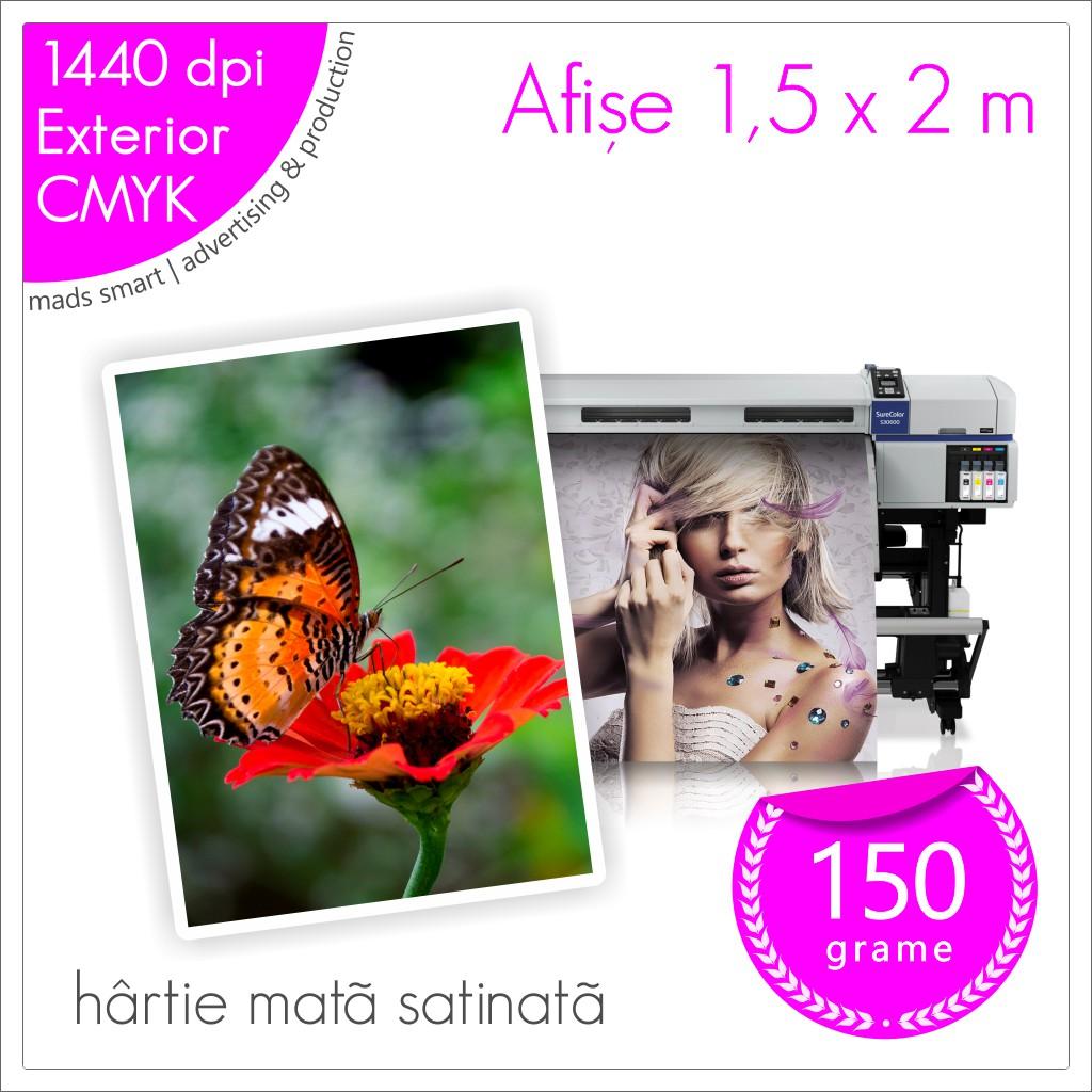 Afișe 150 x 200 cm de Exterior | Print pe Hârtie Mată Satinată 150g | Cod X05 | Mads Smart