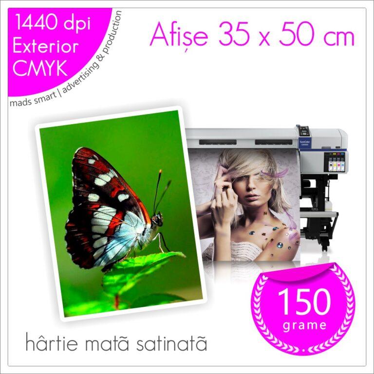 Afișe 35 x 50 cm de Exterior | Print pe Hârtie Mată Satinată 150g | Cod X01 | Mads Smart