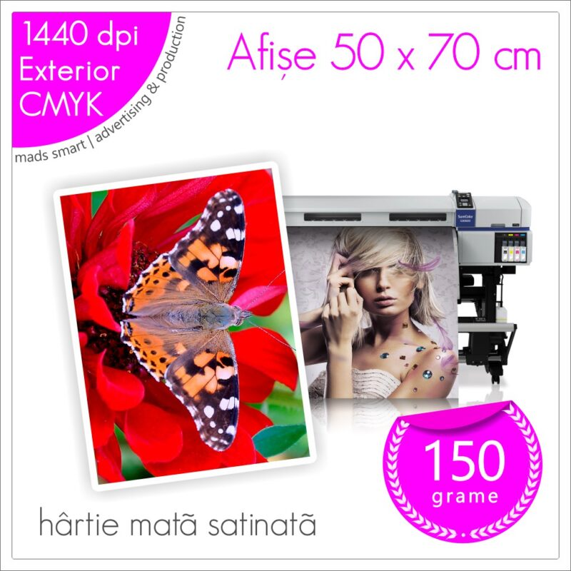 Afișe 50 x 70 cm de Exterior | Print pe Hârtie Mată Satinată 150g | Cod X02 | Mads Smart