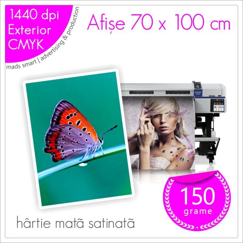 Afișe 70 x 100 cm de Exterior | Print pe Hârtie Mată Satinată 150g | Cod X03 | Mads Smart