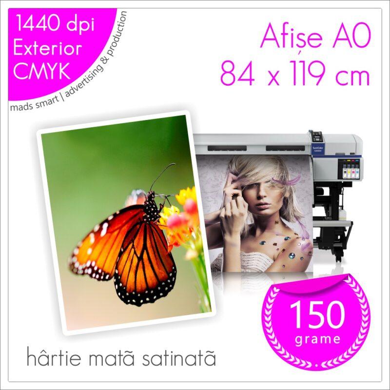 Afișe A0 de Exterior | Print pe Hârtie Mată Satinată 150g | Cod X06 | Mads Smart