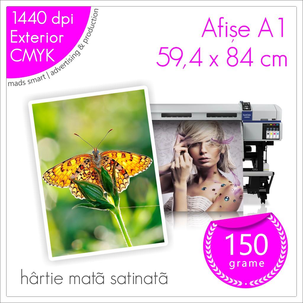 Afișe A1 de Exterior | Print pe Hârtie Mată Satinată 150g | Cod X07 | Mads Smart