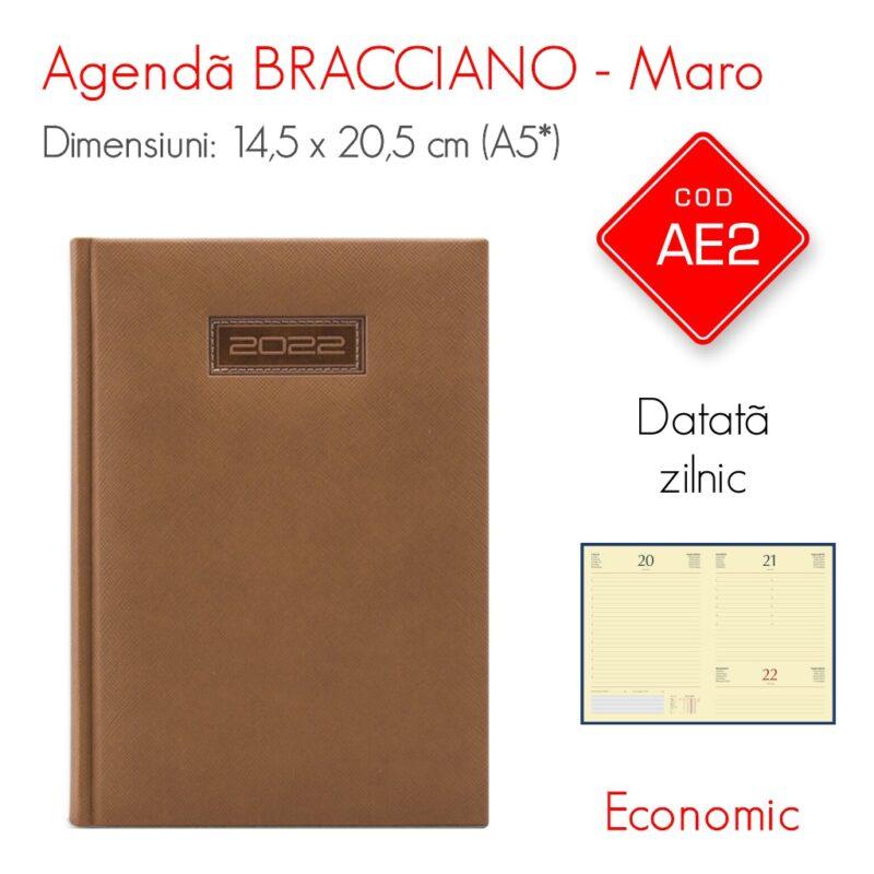 Agenda Economica BRACCIANO Maro A5 Datata Zilnic