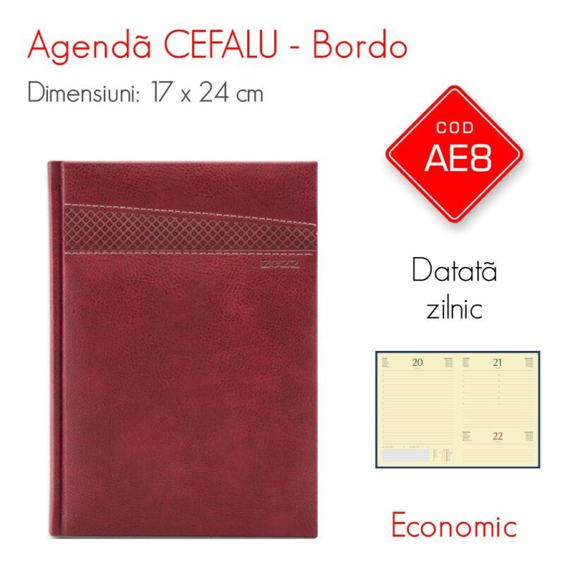 Agenda Economica CEFALU Bordo 17x24 cm Datata Zilnic
