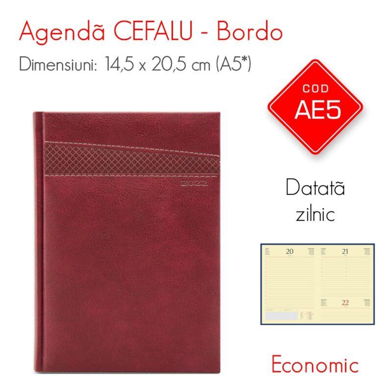 Agenda Economica CEFALU Bordo A5 Datata Zilnic