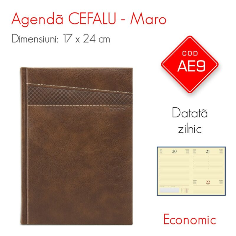Agenda Economica CEFALU Maro 17x24 cm Datata Zilnic