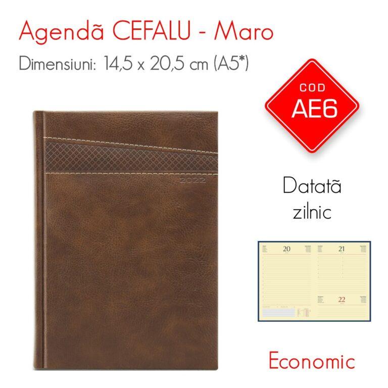 Agenda Economica CEFALU Maro A5 Datata Zilnic