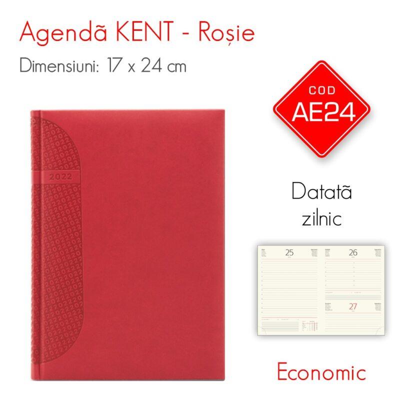 Agenda Economica KENT Rosie 17x24 cm Datata Zilnic