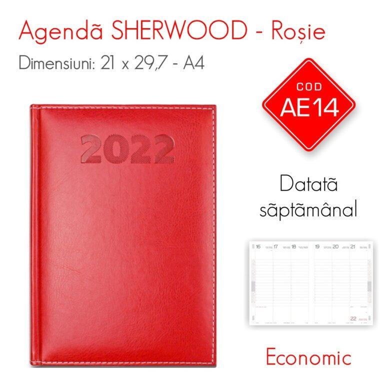 Agenda Economica SHERWOOD Rosie A4 Datata Saptamanal