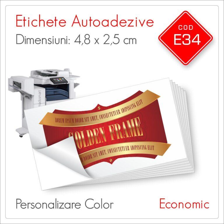 Etichete Autoadezive Personalizate | 48 x 25 mm | Color | Economic | E34 | Mads Smart