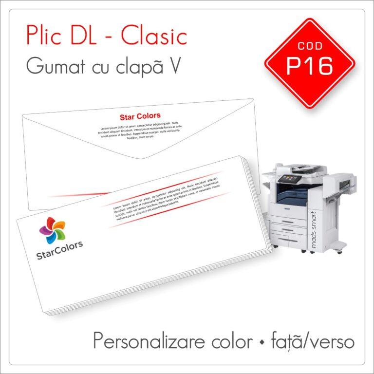 Plicuri Personalizate DL | Clapă V Gumată | Color | Personalizare Față/Verso | Clasic | Cod P16 – Mads Smart