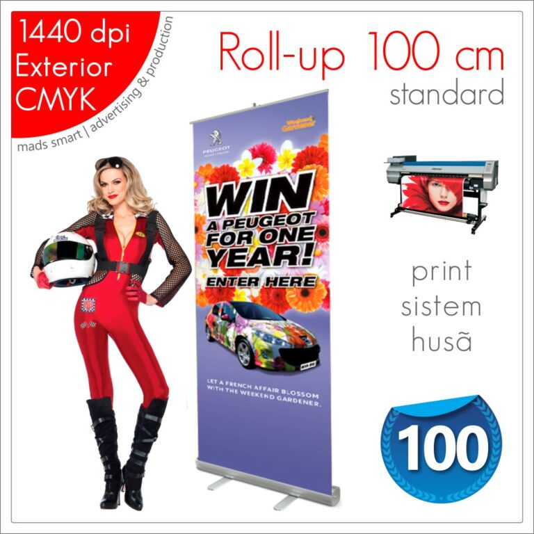 Roll-up 100 x 200 cm Standard – Magazin Online – Mads Smart
