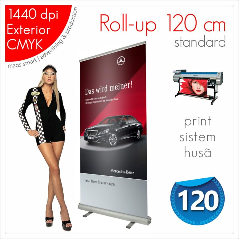 Roll-up 120 x 200 cm Standard - Magazin Online - Mads Smart